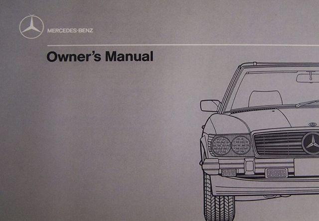 Car manual Mercedes